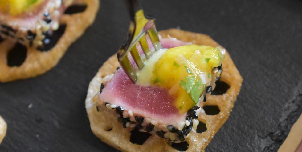 Sesame Tuna w/ Mango Salsa