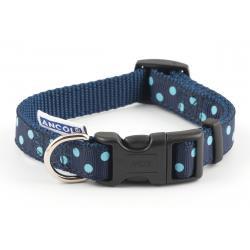 Ancol Vintage Polka Collar Blue