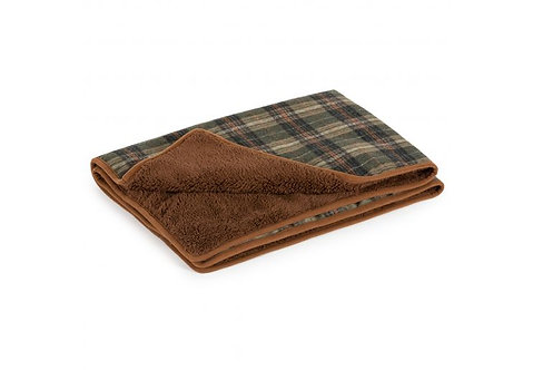 Ancol Heritage Green Check Blanket