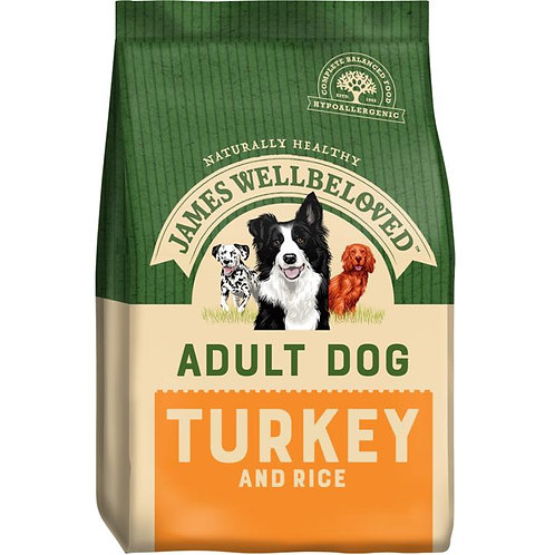 James Wellbeloved Dog Adult Turkey & Rice 7.5KG