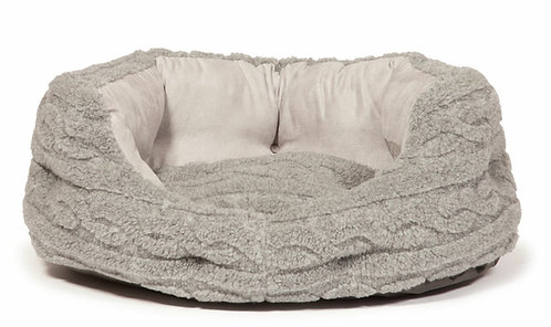 "Danish Design Bobble Pewter Deluxe Slumber Pet Bed - 18"", 24"", 30"", 35"""