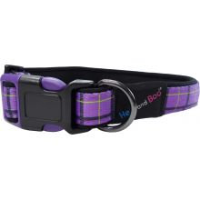 Hemm & Boo Check Collar Purple