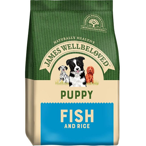 James Wellbeloved Puppy Fish & Rice Dry Food 15KG