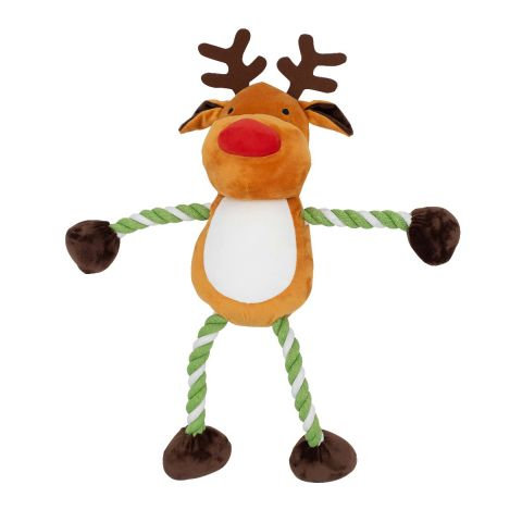 Good Boy Christmas Hug Tug Reindeer -LARGE 24""