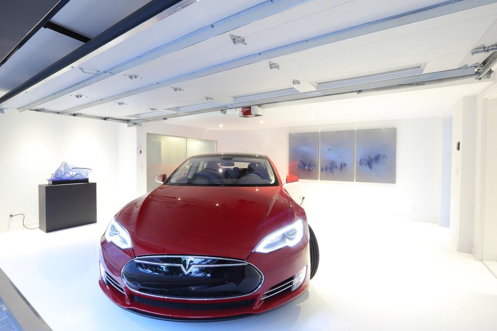 Garage + Tesla