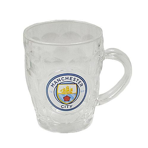 MANCHESTER CITY – GLASS TANKARD
