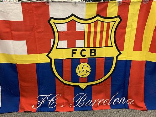 FC. Barcelona Crest Flag