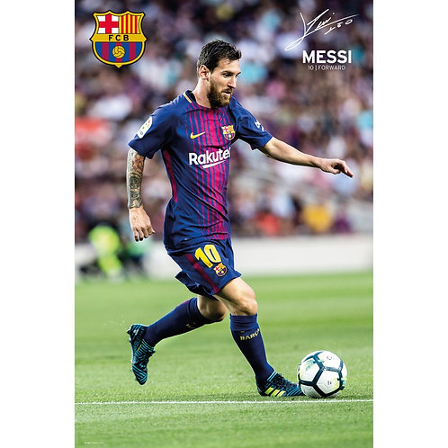 Lionel Messi Action Poster