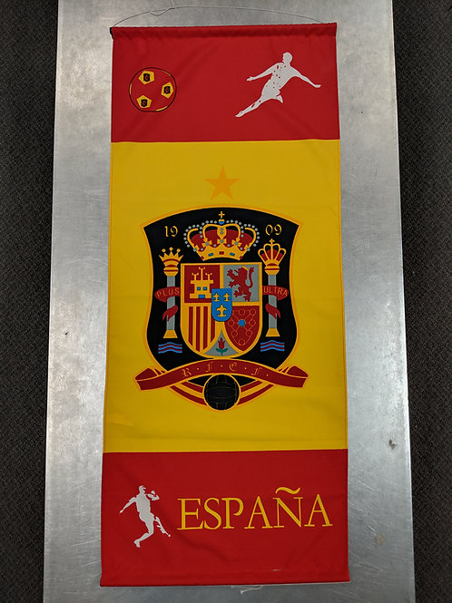 Spain Large Banner (43.5 x 18.5 inches)