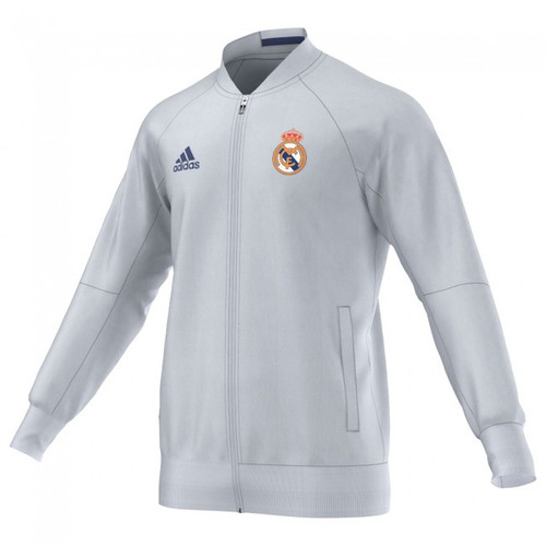 3869f8e7a Real Madrid Home Anthem Jacket- White 2016 17