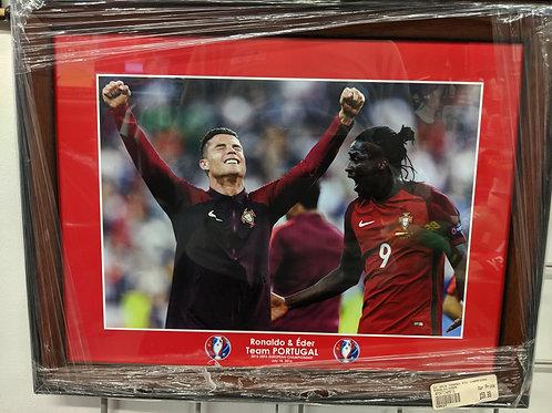 Cristiano Ronaldo & Eder Portugal Framed Photo