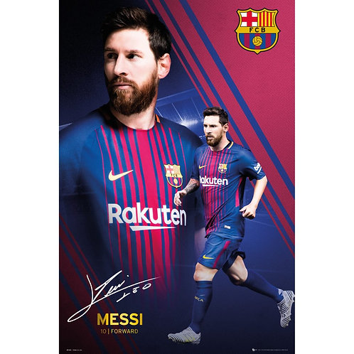 Lionel Messi Collage Poster