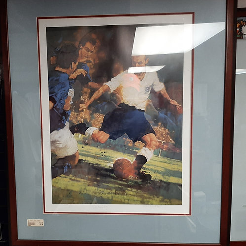 Sir Stanley Matthews Signed Painting- FRAMED