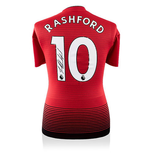 MARCUS RASHFORD – AUTHENTIC SIGNED 2018-19 MANCHESTER UNITED JERSEY