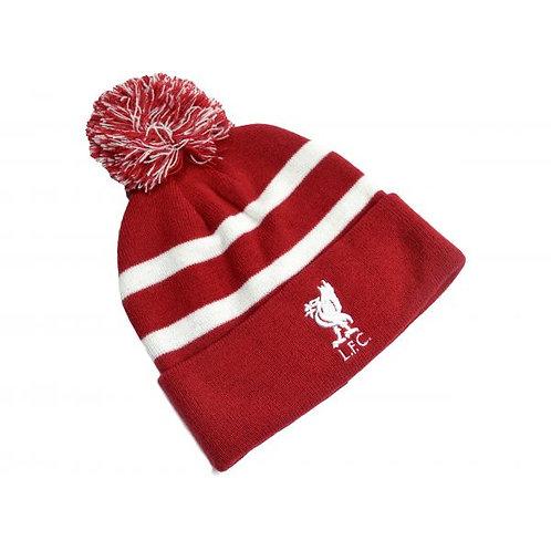 LIVERPOOL FC – RED & WHITE POM BEANIE