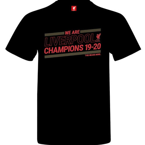 LIVERPOOL - BLACK & GOLD PREMIER LEAGUE CHAMPIONS T-SHIRT