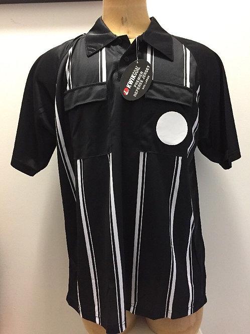 KwikGoal Referee Jersey BLK/WHT