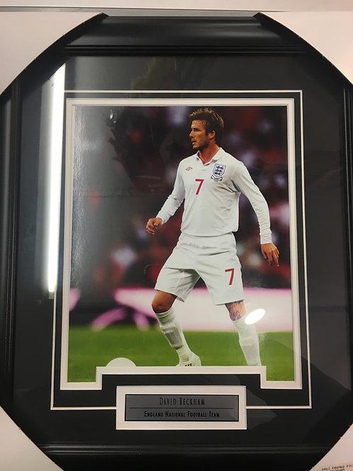 David Beckham Framed England National team Picture