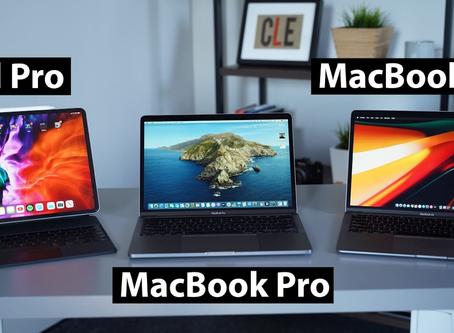 Comparação: MacBook Pro vs MacBook Air vs iPad Pro - Qual você deve comprar?
