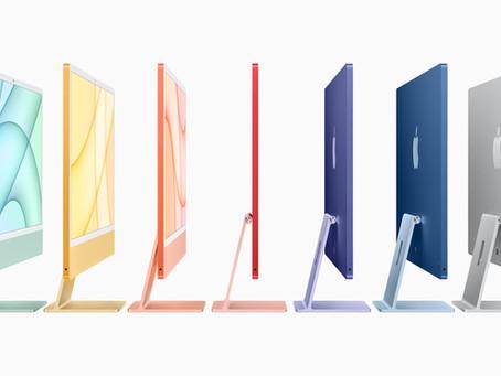 Apple lança iMac redesenhado com chip M1, tela de 4,5K, sete opções de cores e muito mais