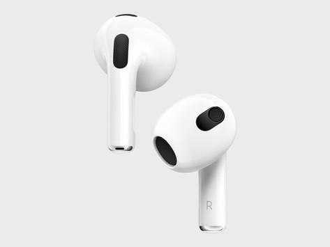 Apple lança AirPods de terceira geração redesenhados e com novos recursos