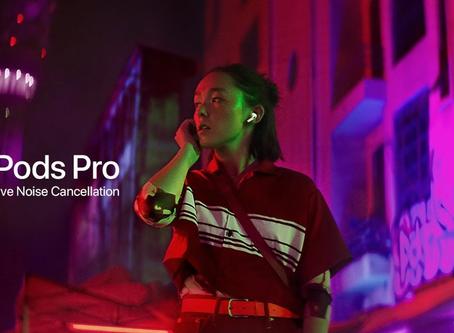 Novo comercial dos AirPods Pro foca em cancelamento de ruído e modo ambiente