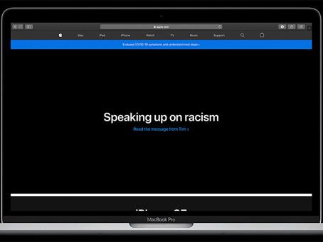 Site americano da Apple divulga e destaca carta de Tim Cook sobre racismo