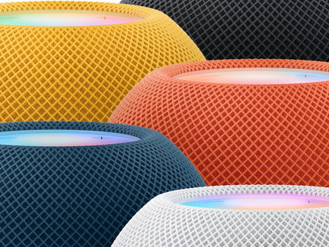 HomePod mini ganha três novas cores: amarelo, laranja e azul