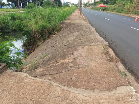 Calçadas da Via Expressa continuam com problemas de segurança
