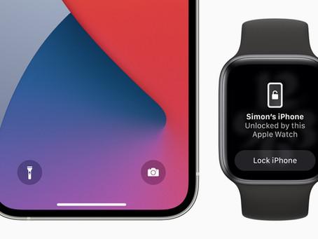 iOS 14.5 e watchOS 7.4 são lançados com desbloqueio do iPhone com máscara pelo Apple Watch
