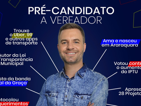 Rafael de Angeli lança pré-candidatura a vereador em Araraquara