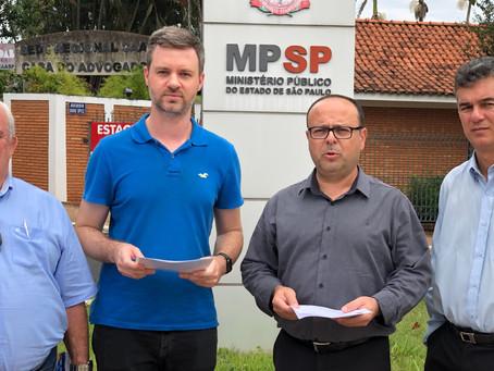 Bancada do PSDB aciona o Ministério Público para cobrar omissão da Prefeitura