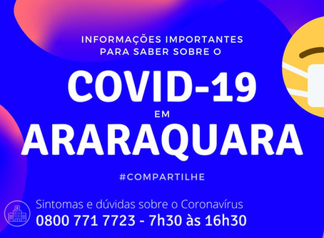 Atenção: COVID-19 em Araraquara, principais contatos do município