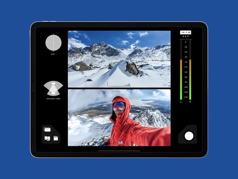 Aplicativo FiLMiC DoubleTake agora permite gravar vídeos com várias câmeras no iPad Pro