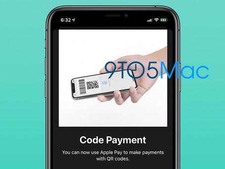 Apple está trabalhando em pagamentos por QR Code para o Apple Pay, revela código do iOS 14