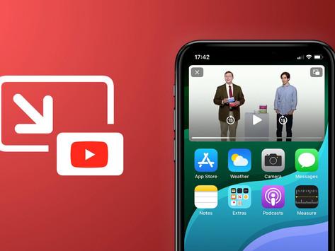 YouTube afirma que PiP chegará a todos os usuários do iPhone