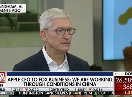 Tim Cook, CEO da Apple, fala sobre o impacto a longo prazo, do coronavírus, em nova entrevista