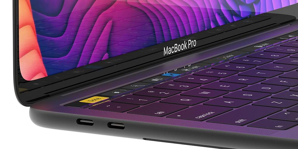 Conceito de um novo design para o MacBook Pro