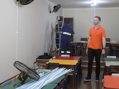 Vereador Rafael de Angeli fiscaliza novo local que abriga o CER do Parque Infantil em 2019