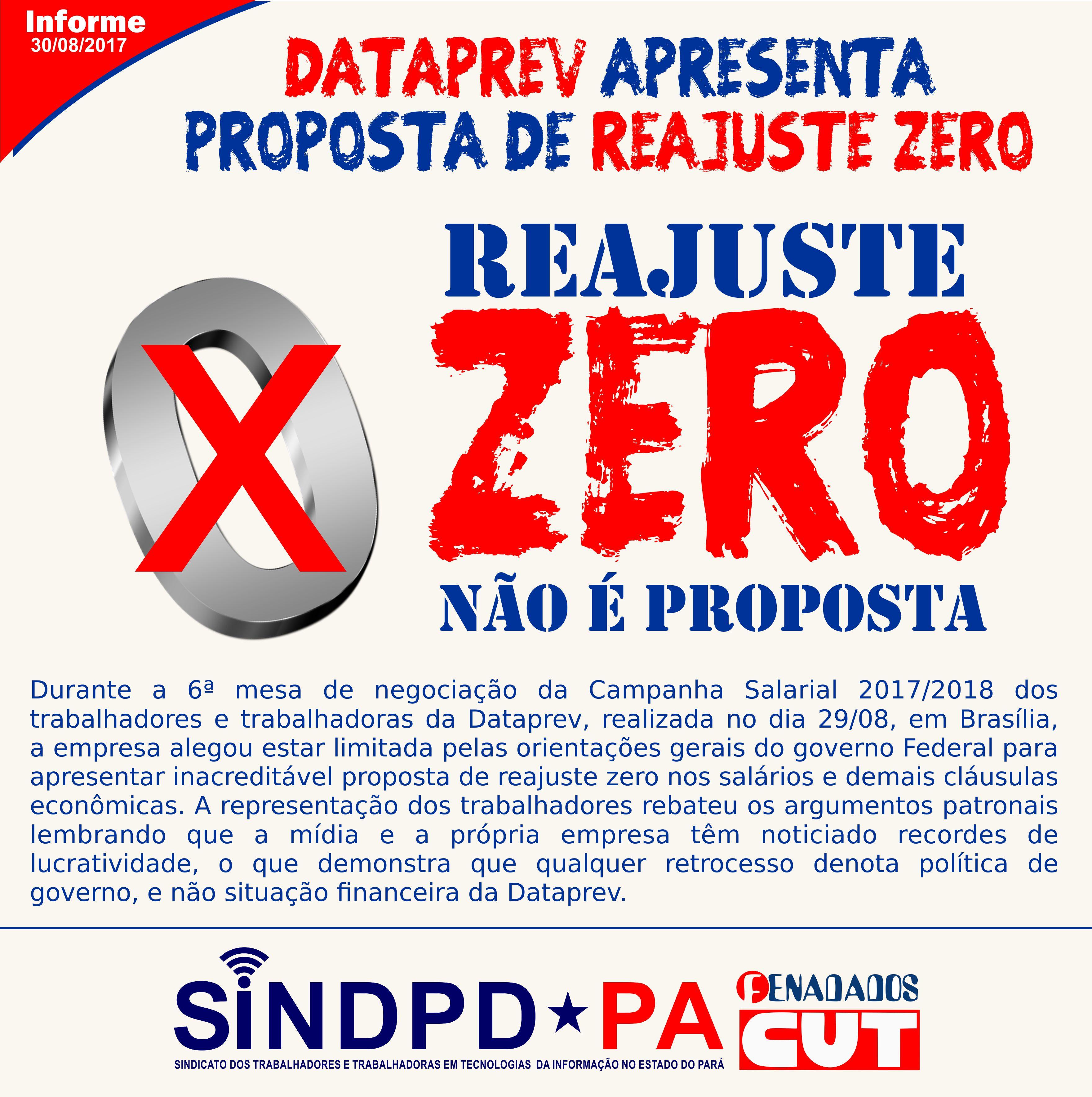 dataprev reajuste zero
