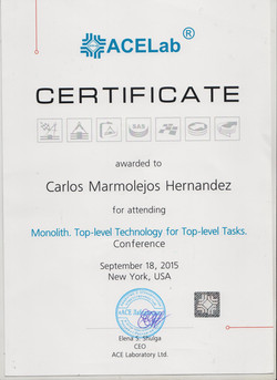 Monolith Data Recovery Certificate