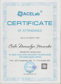 NAND DATA RECOVERY CERTIFICATE