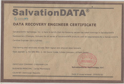 Data Recovery Engineer Certificate