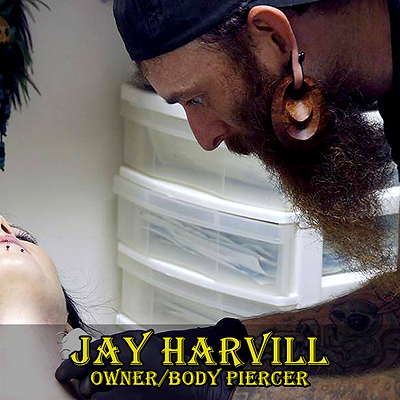 Body Piercer Jay Harvill
