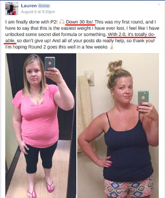 Lauren down 30 lbs