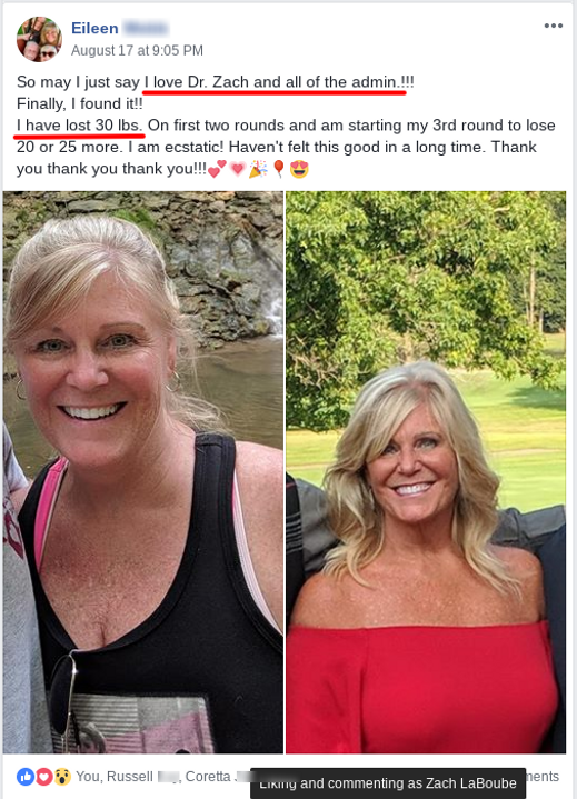Eileen lost 30 pouns on HCG diet