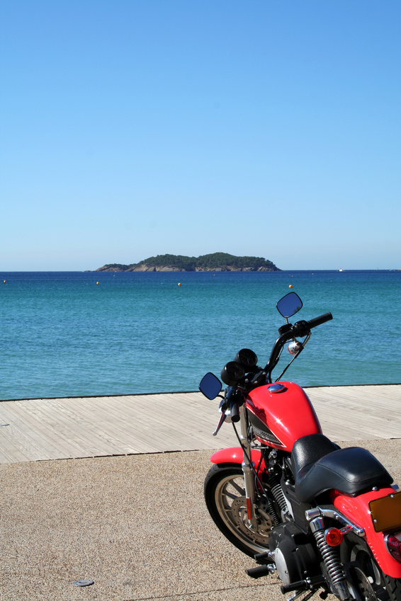 Motorcycle by the Sea