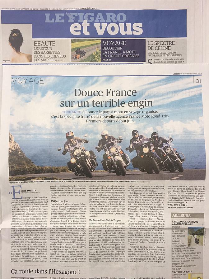 Le Figaro met à l'honneur France Moto Road Trip !