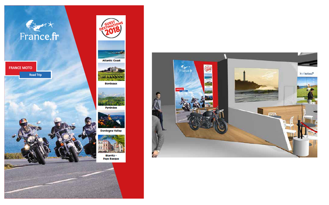 ITB 2018, France Moto Road Trip au grand salon du tourisme mondial du 7 au 11 mars à Berlin.