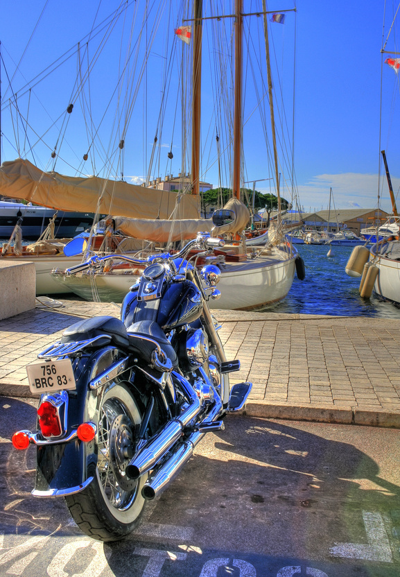 Motorcycle at Sea Port Nice